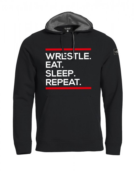 Wrestle Eat Sleep Repeat Hoody Herren
