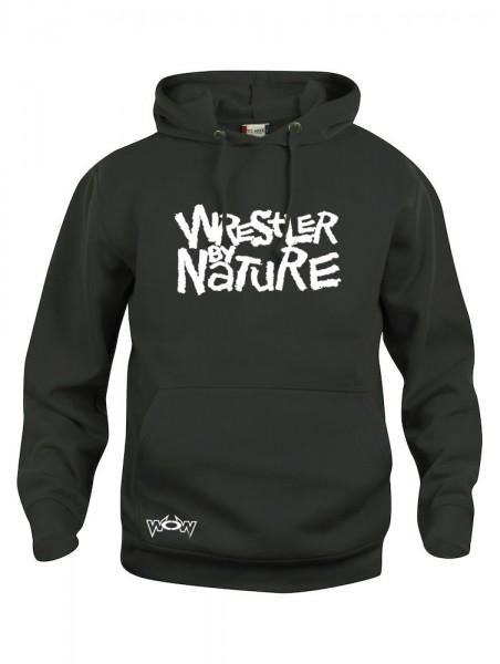 Wrestler by Nature Hoody Schwarz/Weiß