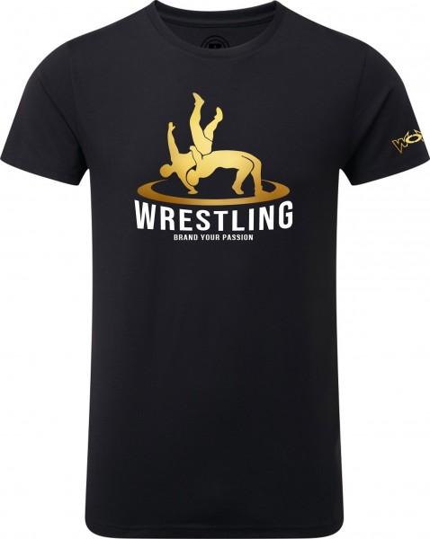 Wrestler in Action T-Shirt Kinder