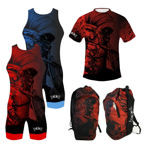 Gladiator Komplett Trikot Doppelpack+T-Shirt+Rucksack Kinder