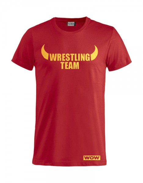 WOW Wrestling Team T-Shirt Gold Folie Kinder
