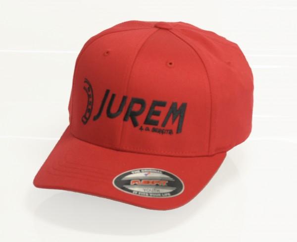 Jurem Kappe mit Stick Rot+Schwarz