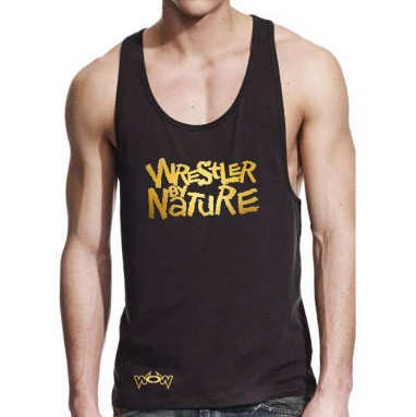Wrestler by Nature Tank-Top Schwarz/Gold
