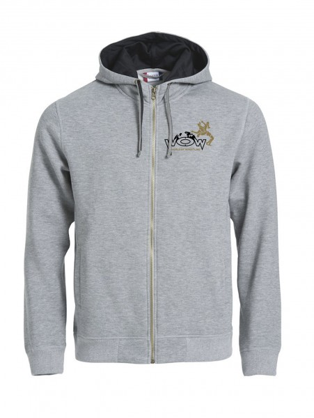 World of Wrestling Zipper Hoody Grau Herren