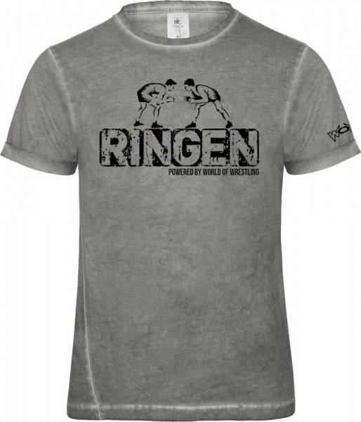 Ringen Powered by World of Wrestling Style T-Shirt