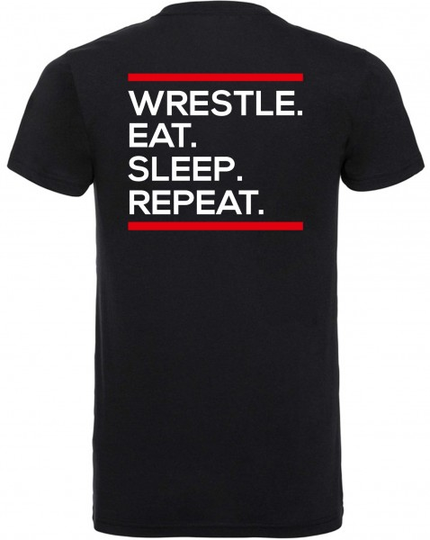 Wrestle Eat Sleep Repeat T-Shirt Kinder