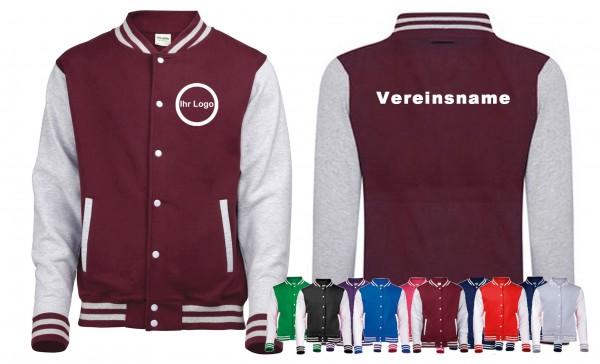 20 College Jacken mit bedrucktem Logo