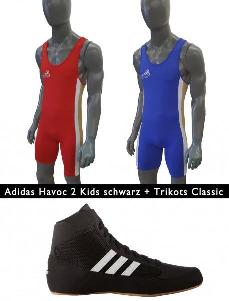 Havoc II Kids Schwarz + Trikot Classic Doppelpack Kinder