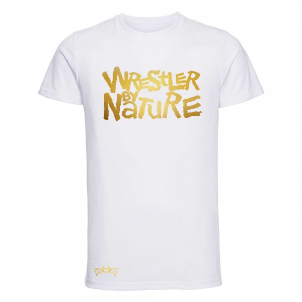 Wrestler by Nature T-Shirt Weiß/Gold
