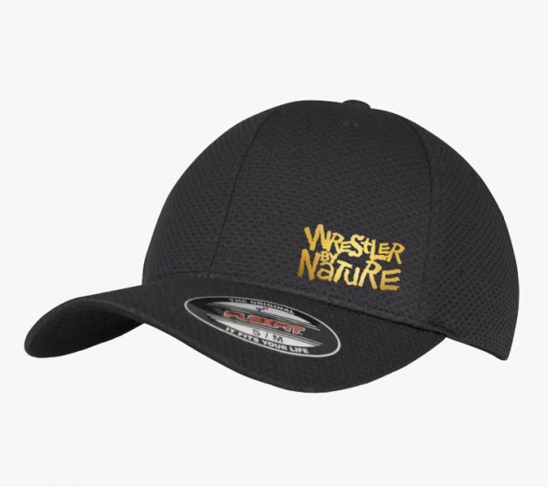 Wrestler by Nature Kappe Schwarz/Gold S/M