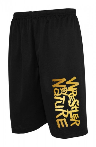 Wrestler by Nature Shorts Schwarz/Gold