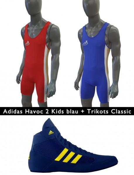 Havoc II Kids Blau + Trikot Classic Doppelpack Kinder