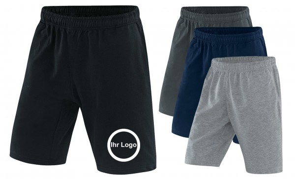 20 Shorts mit bedrucktem Logo vorne