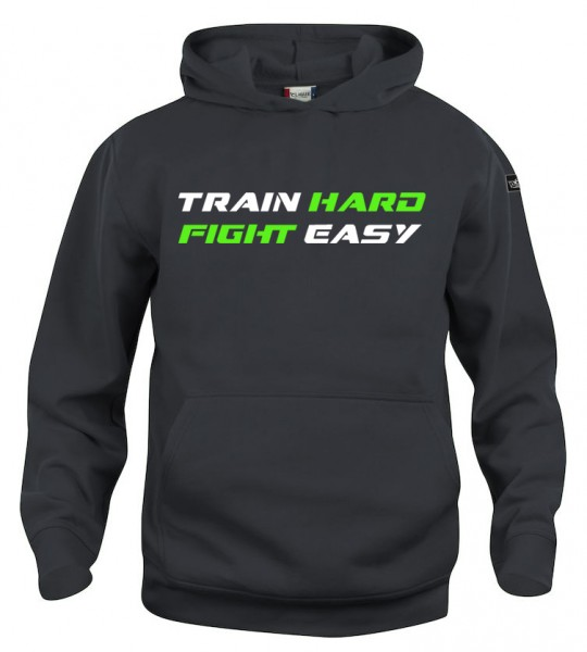 Train Hard Fight Easy Hoody Kinder