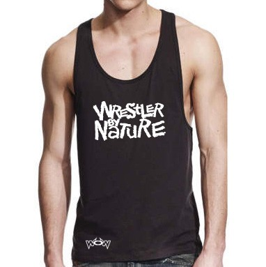 Wrestler by Nature Tank-Top Schwarz/Weiß
