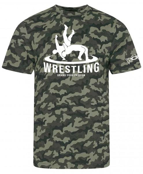 Camo Wrestler in Action Shirt grün