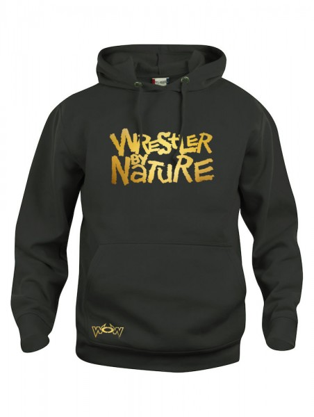 Wrestler by Nature Hoody Schwarz/Gold