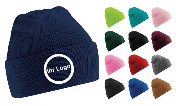 100 Wintermützen mit besticktem Logo