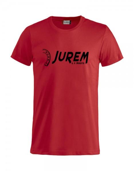 Jurem T-Shirt Rot mit Druck Damen und Herren
