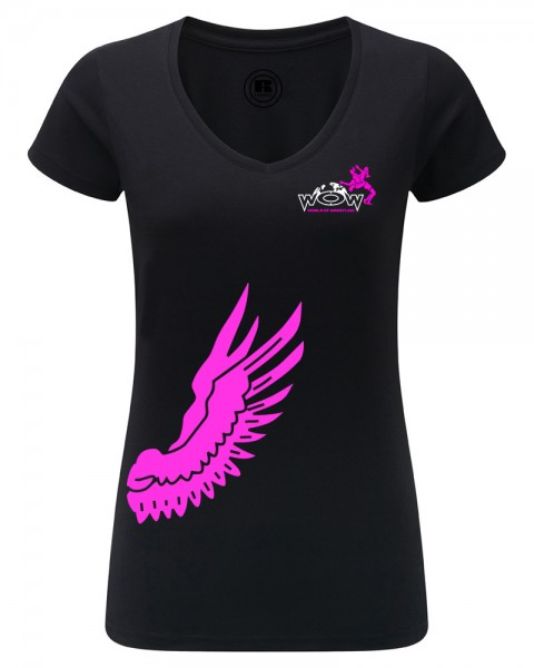 Flügel V-Neck T-Shirt Damen