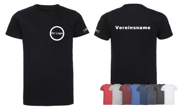 30 T-Shirts Premium mit bedrucktem Logo vorne + Schriftzug hinten