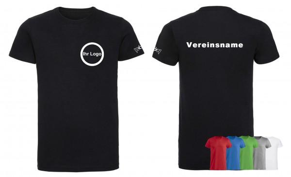 30 T-Shirts Basic mit bedrucktem Logo vorne + Schriftzug hinten