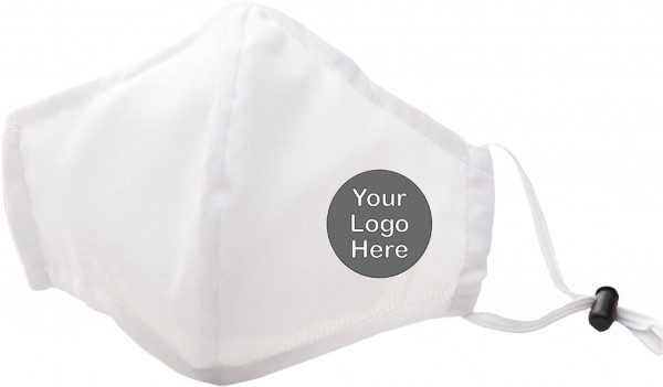 10 Mund- und Nasenmaske Weiß bedruckt