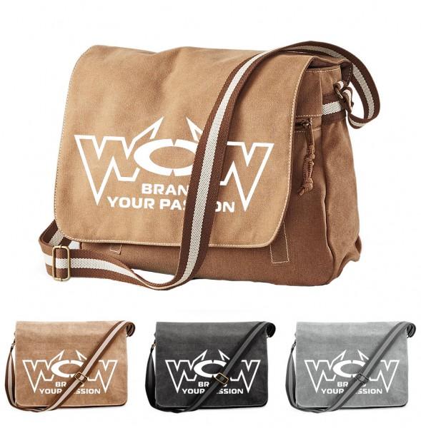 WOW Vintage Tasche mit großem Logo