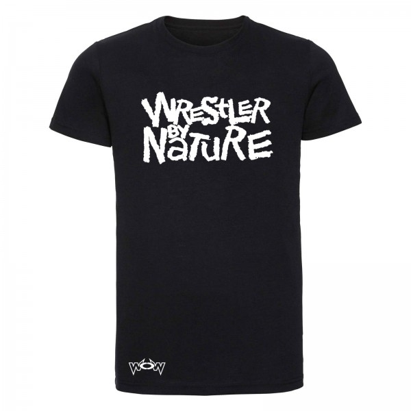 Wrestler by Nature T-Shirt Schwarz/Weiß