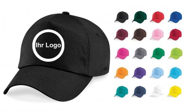50 Kappen mit bedrucktem Logo