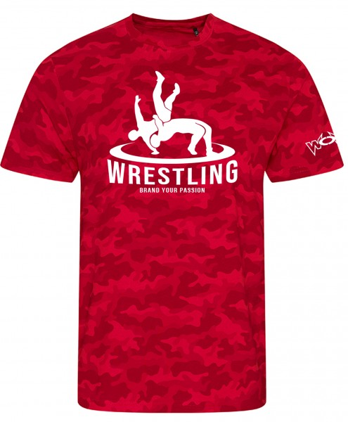 Camo Wrestler in Action Shirt rot
