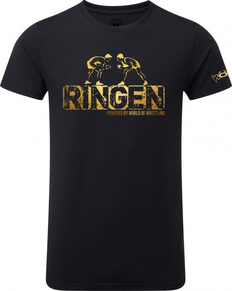 RINGEN Powered By World of Wrestling T-Shirt Kinder